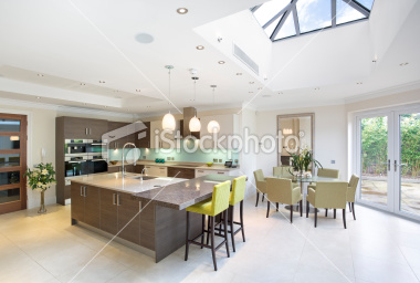 Stock Photo 20113780 Large Kitchen And Diner